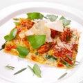 Italian food lasagna Stock Image