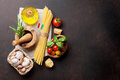 Italian food. Pasta ingredients
