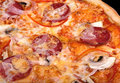 Italian food pizza with sausage Royalty Free Stock Photo