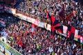 Italian football league serie a genoa atalanta italy may the steps of the fans Stock Photography