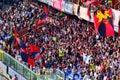 Italian football league serie a genoa atalanta italy may the steps of the fans Royalty Free Stock Photo