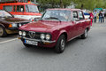 Italian four door sedan alfa romeo giulia nuova super berlin may th oldtimer tage berlin brandenburg may berlin germany Royalty Free Stock Photos