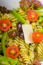 Italian fusilli pasta salad Royalty Free Stock Photos