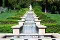 Italian Garden Waterfall Royalty Free Stock Photo