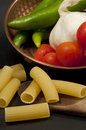 Italian gastronomic composition Royalty Free Stock Photo