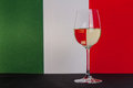 Italian glass of wine Royalty Free Stock Photo