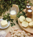 Italian gnocchi and Parmesan Royalty Free Stock Image