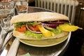 Italian Gourmet Sandwich Stock Images