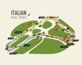 Italian grand prix Monza race track for formula 1 Royalty Free Stock Photo