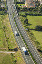 Italian Highway, aerial view Royalty Free Stock Photo