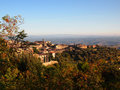 Italian hilltop town Royalty Free Stock Image