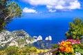 Italian holidays - Capri island Royalty Free Stock Photo