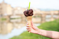 Italian ice cream in Florence Royalty Free Stock Photo