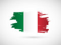 Italian ink brush flag illustration design graphic Royalty Free Stock Photography