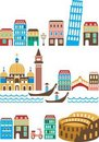 Italian landmarks Stock Photos