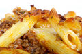 Italian lasagne, mince meat with pasta cheese sauce Stock Photo