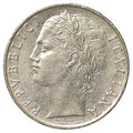 100 italian lira coin Royalty Free Stock Photo
