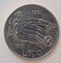 Italian 500 Lire coin Royalty Free Stock Photo