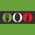 Italian menu design with cutlery symbols Stock Images