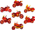 Italian motorcycle red icons Royalty Free Stock Photos