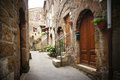 Italian narrow street Royalty Free Stock Photography