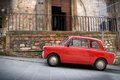 Italian old car umbria vintage in a typical stone village of italy Stock Image