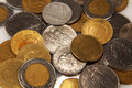 Italian old lire coins, vintage Royalty Free Stock Photo