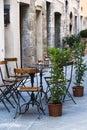 Italian outdoor cafe Royalty Free Stock Photo