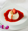 Italian panna cotta dessert Royalty Free Stock Photo