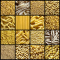 Italian pasta collage Stock Images