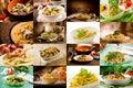 Italian Pasta Collage Royalty Free Stock Photo