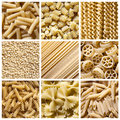 Italian pasta - collage Royalty Free Stock Photo