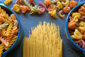Italian pasta different shapes