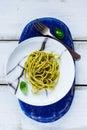 Italian pasta dinner Royalty Free Stock Photo
