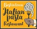 Italian pasta on fork Royalty Free Stock Photo