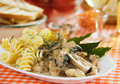 Italian pasta with mushrooms Stock Photography