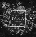 Italian pasta restaurant vector vintage illustration. Hand drawn
