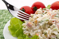 Italian pasta salad Royalty Free Stock Photo