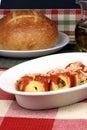 Italian pasta shell rolls Royalty Free Stock Photo