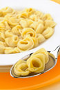 Italian pasta ,tortellini in broth Stock Photography