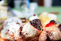 Italian pastries assortment of in close up Royalty Free Stock Photography