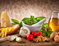 Ingredients for Pesto Royalty Free Stock Photo