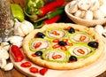 Italština velký kruhový plát světlého těsta