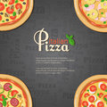 Italian pizza banner with place for text