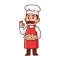 Italian pizza chef Royalty Free Stock Photo