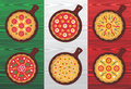 Italian pizza flavors Royalty Free Stock Image