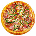 Italian pizza isolated Royalty Free Stock Photo