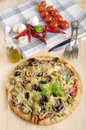 Italian pizza with minced meat Royalty Free Stock Photo
