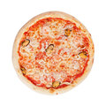 Italian pizza on white background Stock Photo