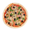 Italian pizza on white background Stock Images